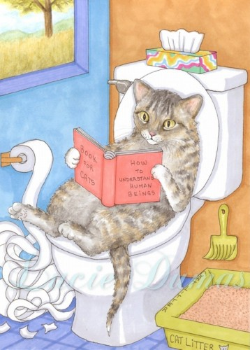 art_print_5x7_funny_painting_cat_535_bathroom_art_by_lucie_dumas_5ad68537